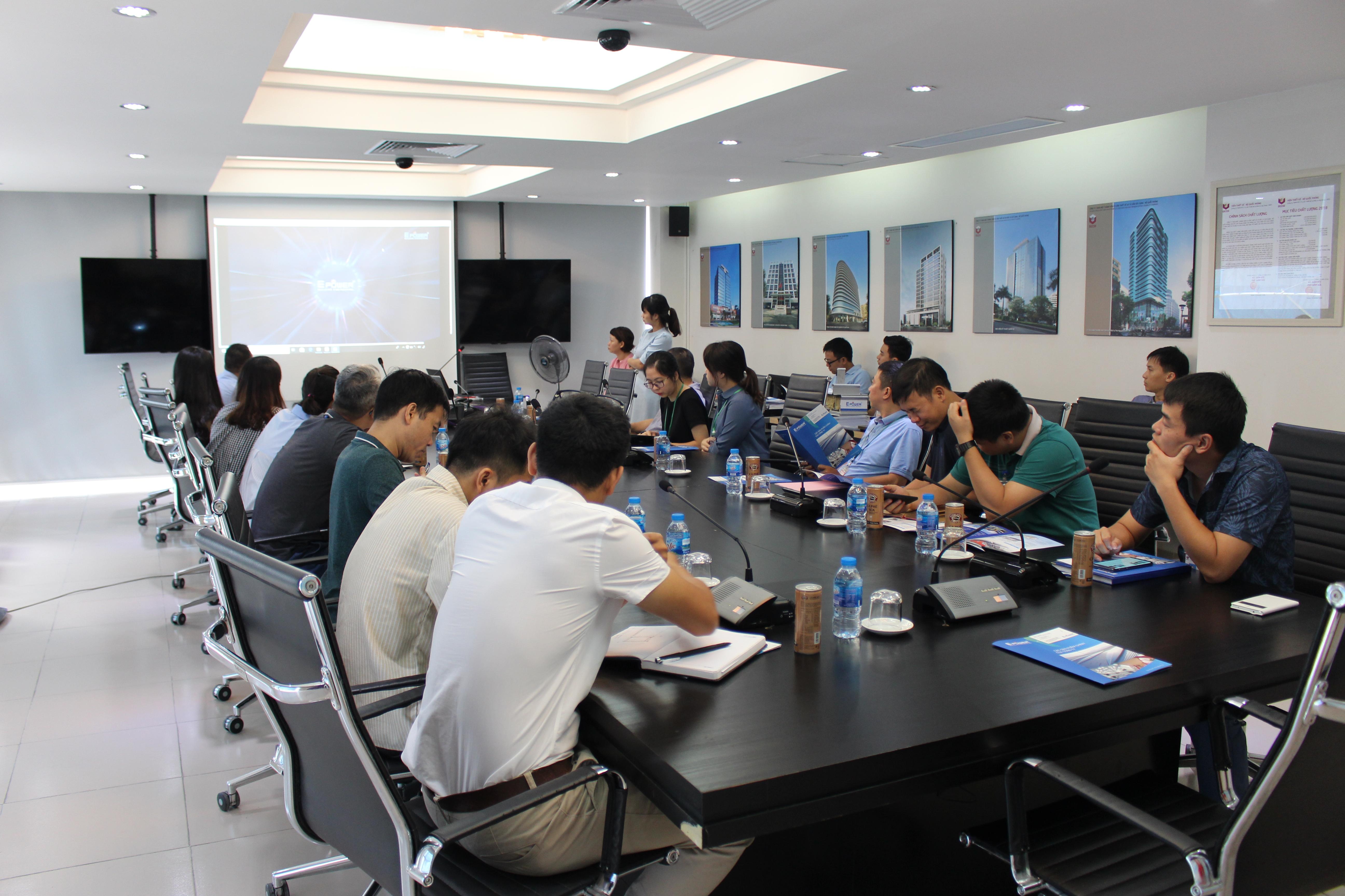 E-power tổ chức hội thảo tại  viện thiết kế bộ quốc phòng