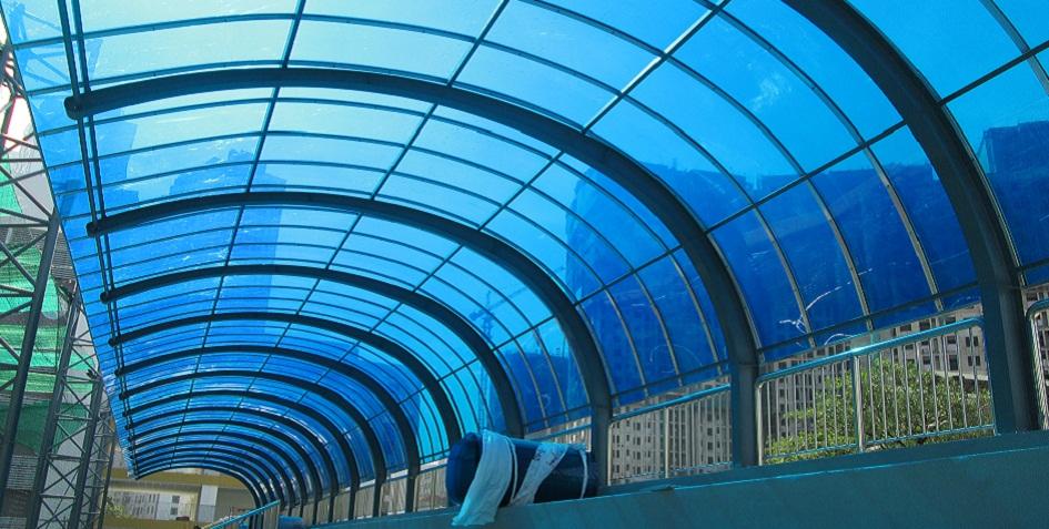 Tấm lợp nhựa mái lấy sáng polycarbonate thông minh đặc, rỗng