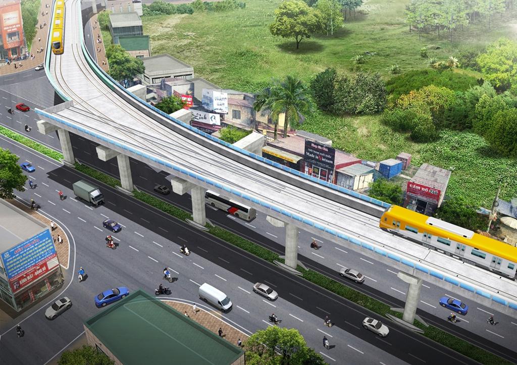 Tiến độ hoàn thành tuyến đường sắt trên cao đoạn Nhổn- ga Hà Nội